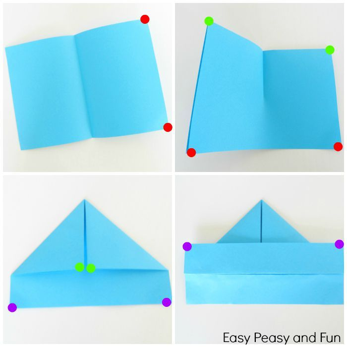how to make a paper boat origami for kids easy peasy origami and boating. Black Bedroom Furniture Sets. Home Design Ideas