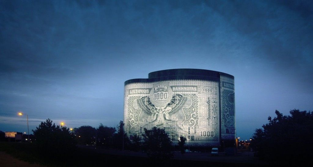Office Center 1000, Lithuania - The financial building was built with the 1000 banknote to commemorate Lithuania's entry into the EU.