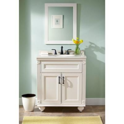 Home Decorators Collection Annakin 30 in Vanity in Cream with
