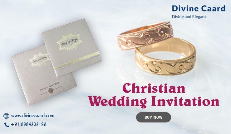 Divine caard buy christian wedding invitations online