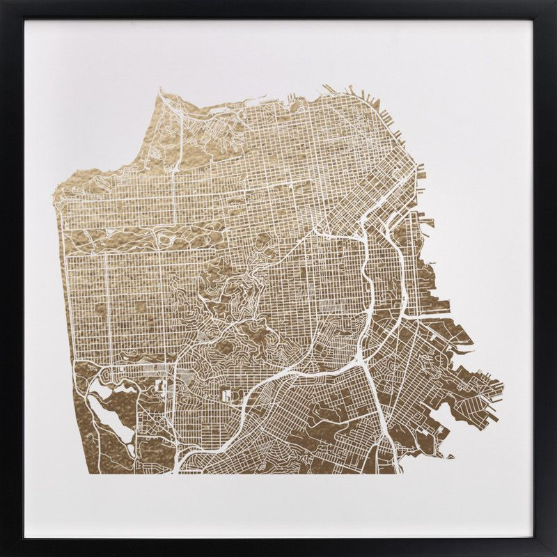 San Francisco Map Foil pressed Art Print