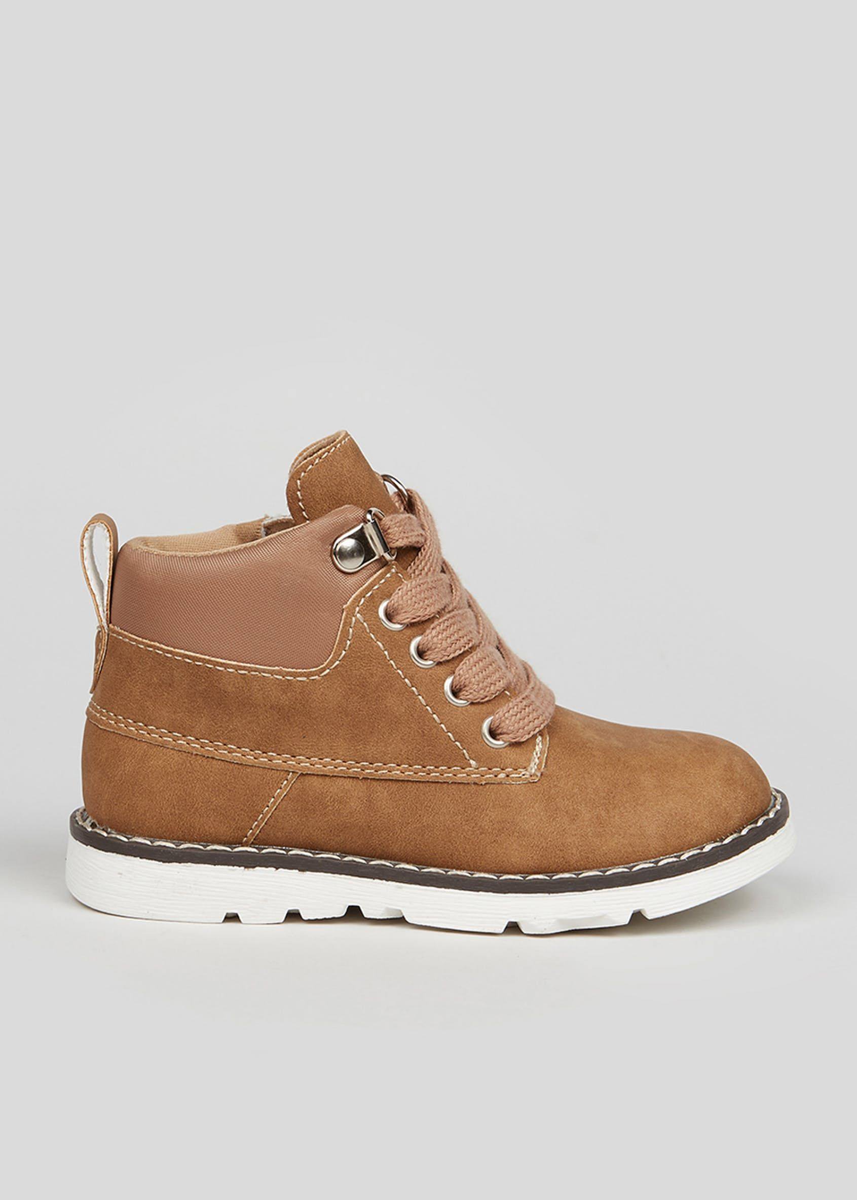 Boys Tan Lace Up Fashion Boots (Younger