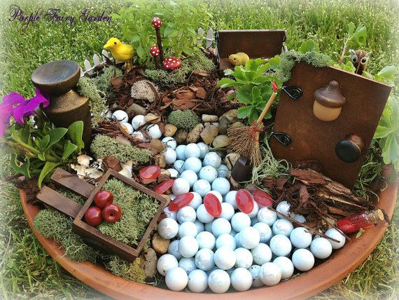 Enchanted Forest Fairy Garden Kit   Fairy Garden Set By PurpleFairyShoppe,  $54.99