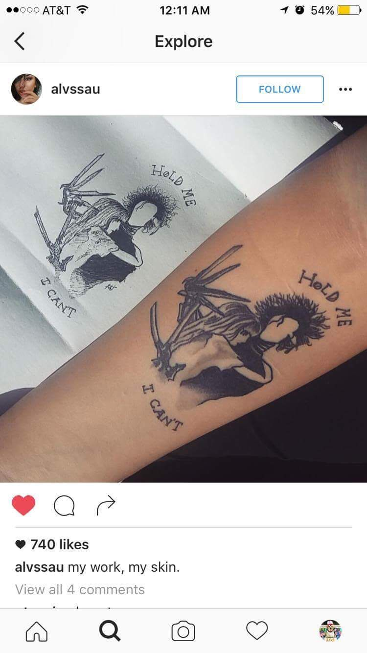 Edward Scissorhands With Images Tattoo Designs Baby Tattoos