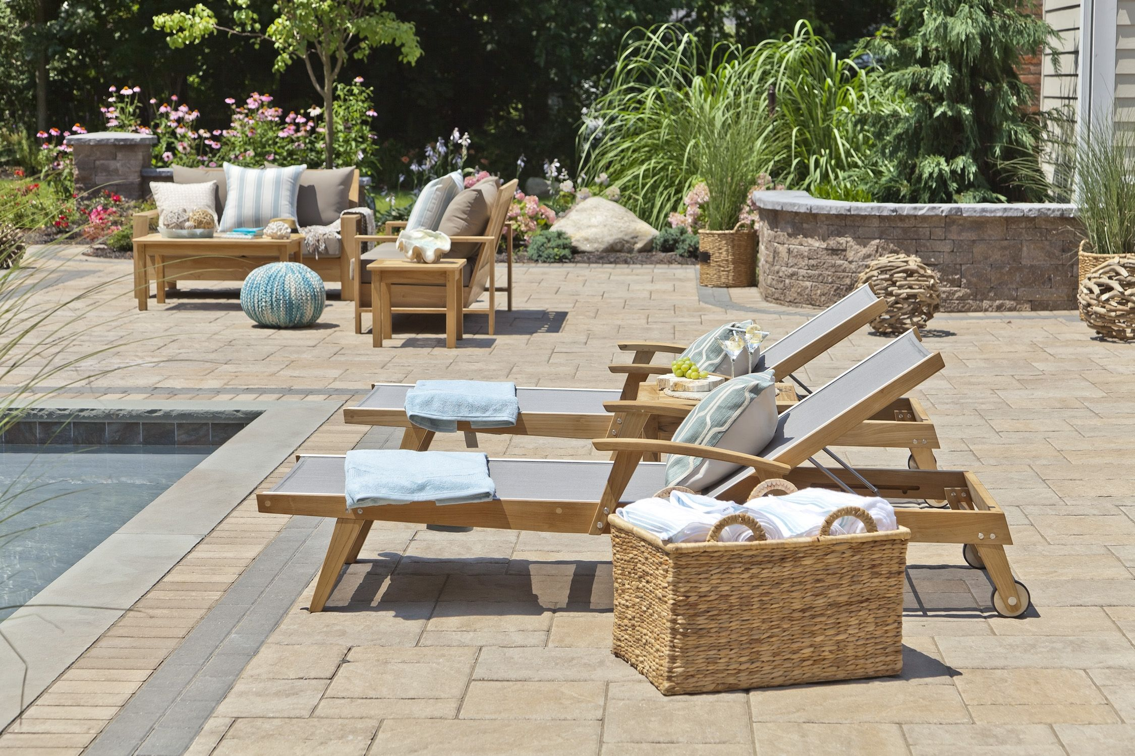 Sling chaise lounge | Patio rocking chairs, Fire pit ... on Living Accents Sling Folding Chaise id=94092