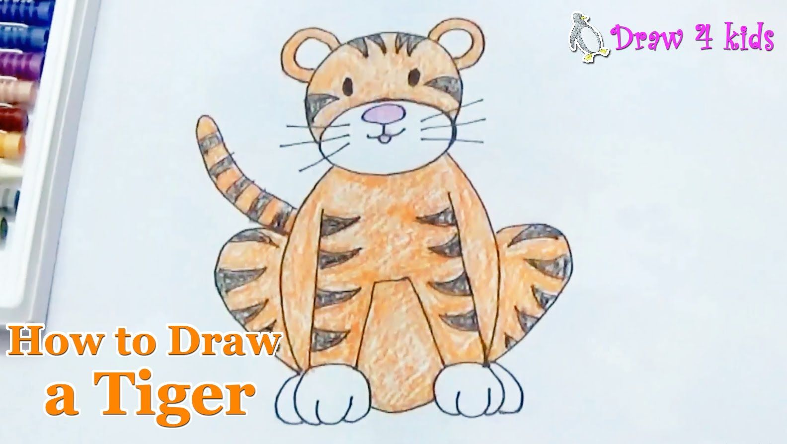 how to draw a tiger step by step easy cách vẽ con hổ how to
