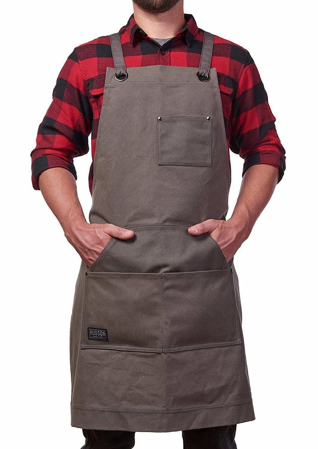 Gardening Apron Woodworking Apron Waxed Waist Tool Apron With Spacious Pockets,