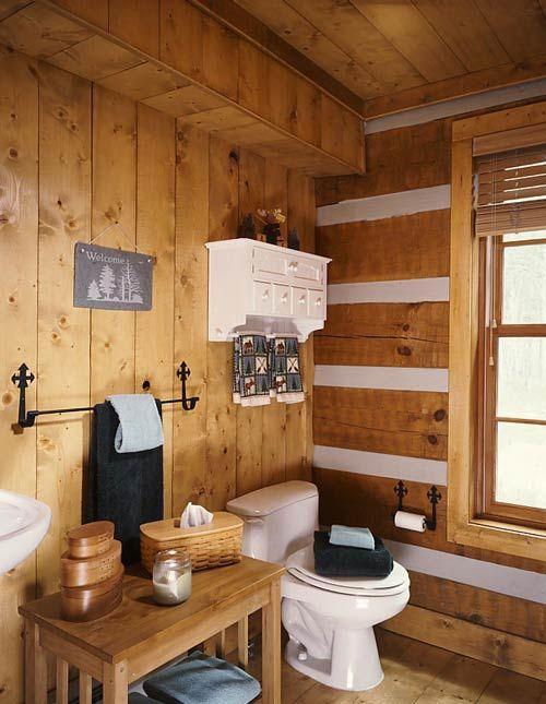 Amazing Log Home Baths | Log Home Bathroom | Hearthstone Log Homes Ideas