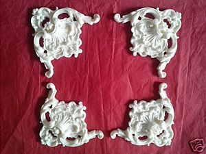 Shabby chic decorative furniture appliques mouldings ornate