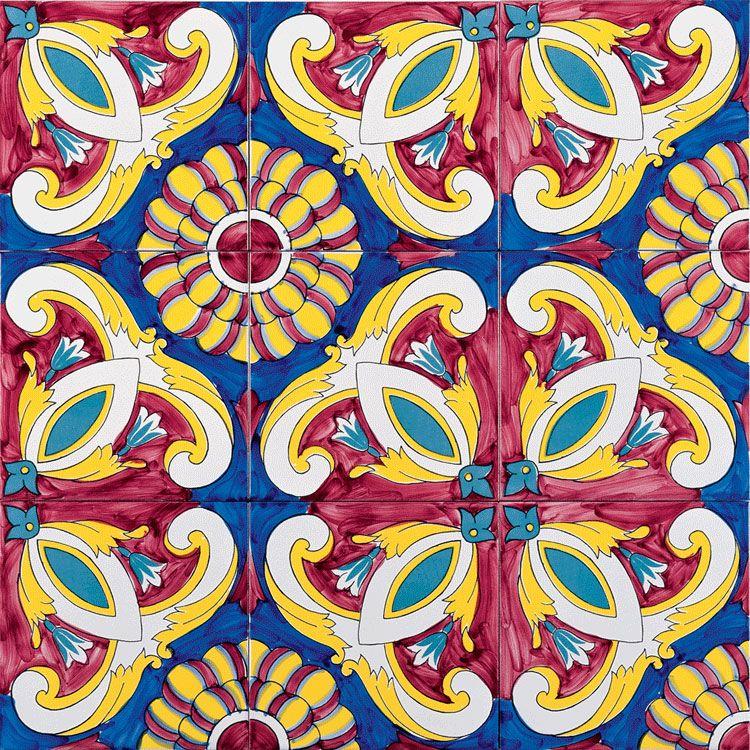 Barocco Rosso e Blu Ceramica Artistica Vietrese Giovanni De Maio