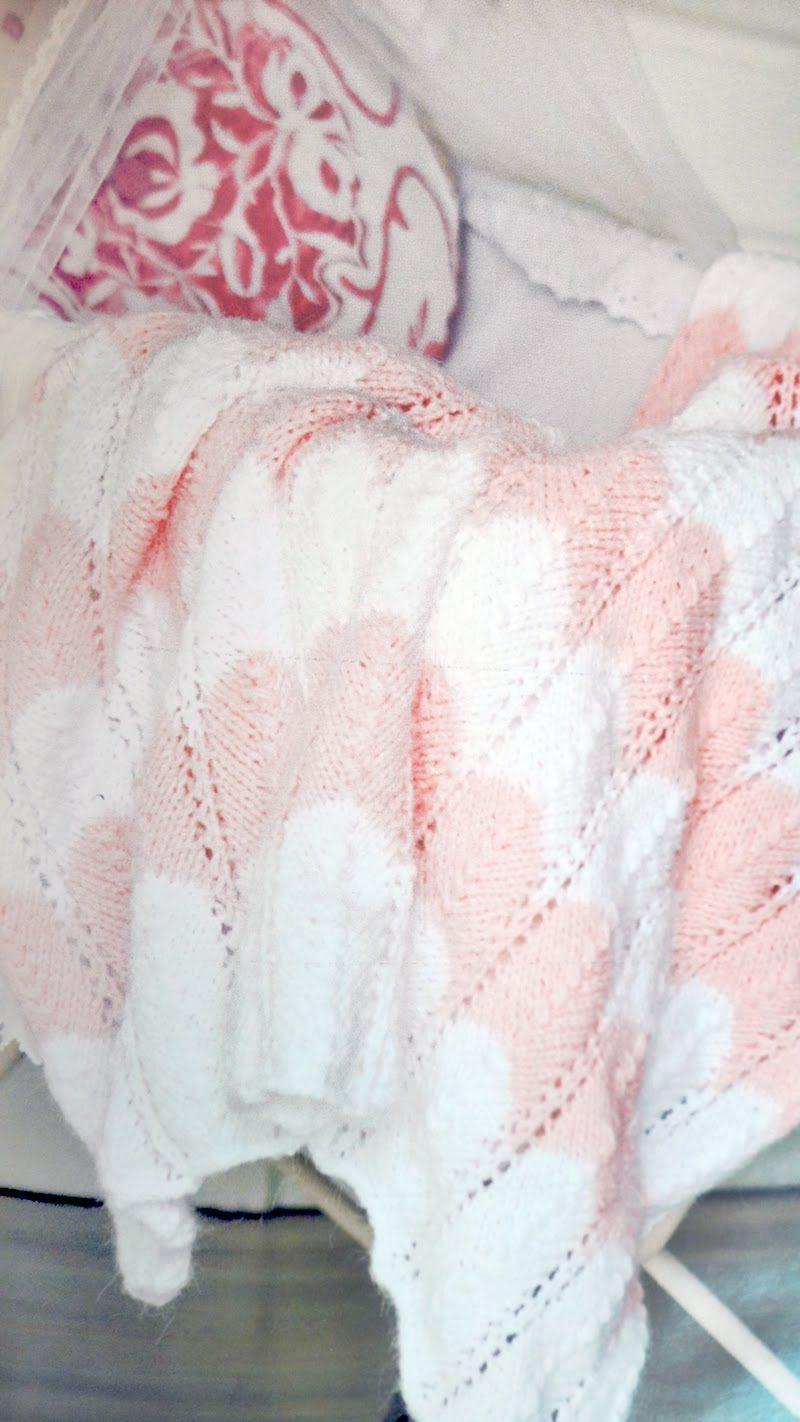 Patrón para tejer una manta en zig zag para bebé en dos agujas ...