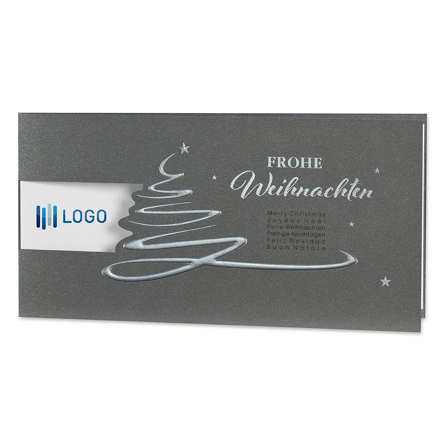 Weihnachtskarten Mit Firmenlogo.Geschäftliche Weihnachtskarten Mit Möglichem Firmenlogoeindruck