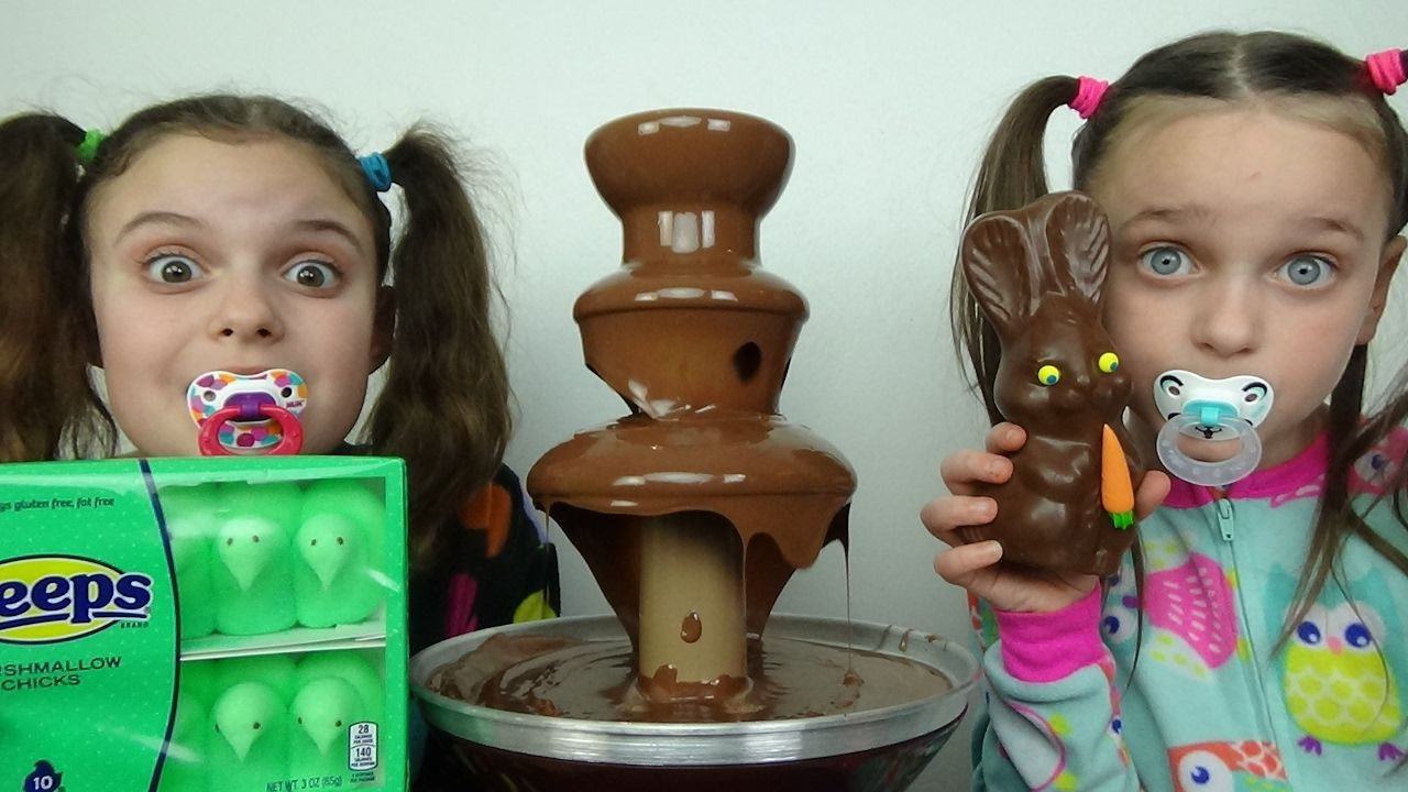 Bad Baby Giant Chocolate Fountain Challenge Victoria Annabelle Freak ...