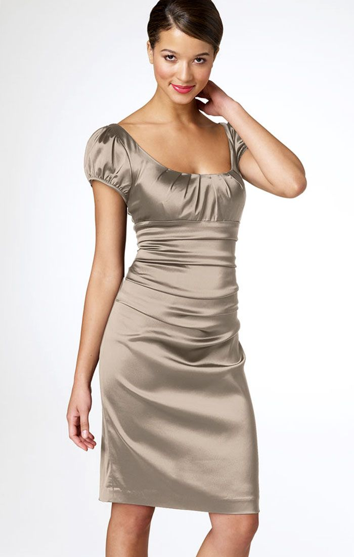 Suzi Chin Maggy Boutique Satin Cocktail Dress | Recipes | Pinterest ...