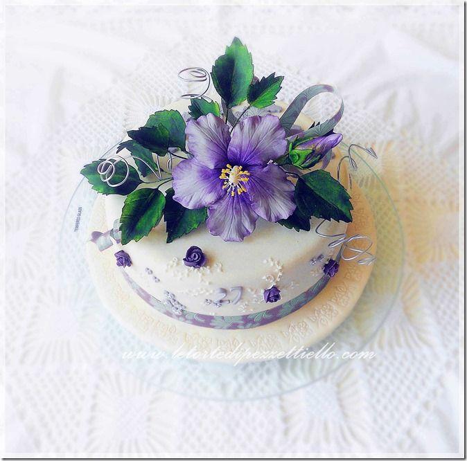 Le Torte di Pezzettiello e non solo...: Hibiscus per 27 anniversari