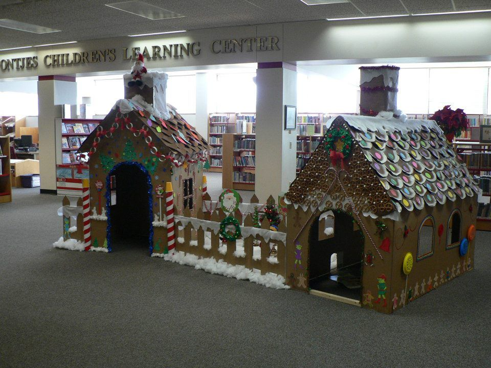 Life Size Gingerbread Houses At Hutchinson Public Library In