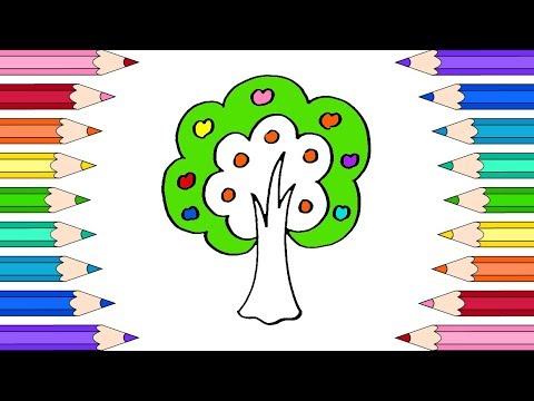 (6) Как Нарисовать Дерево🌳Раскраски для Детей Дерево ...