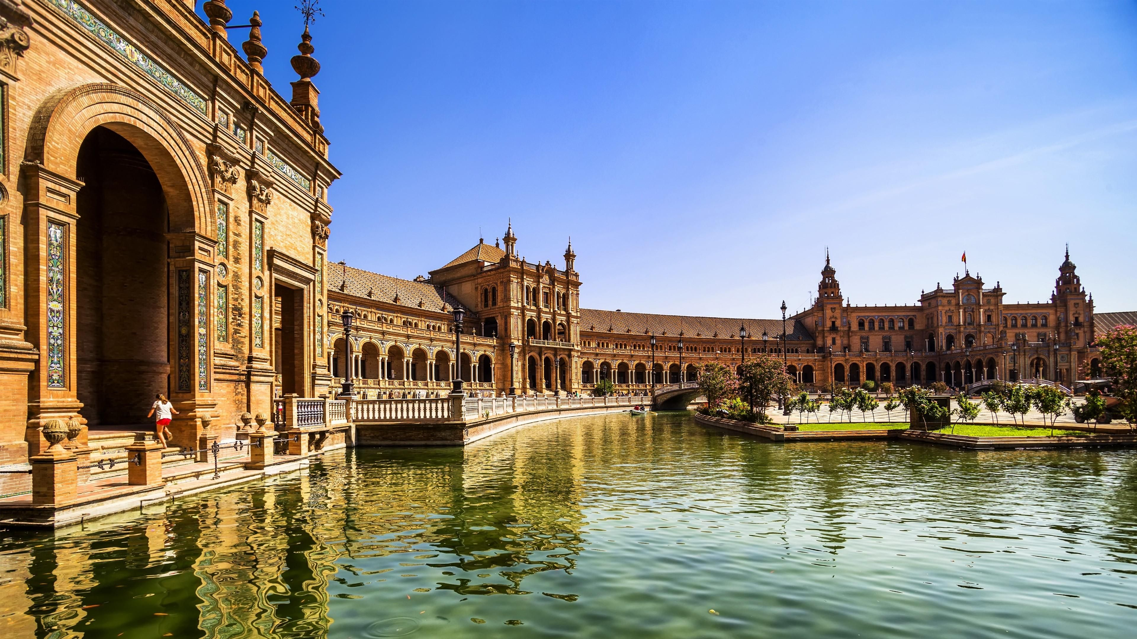 Plaza De Espana Spain Wallpaper Today S Fresh Wallpaper Seville Spain Cityscape With Plaza De Espana Buildings One Summer Road Trip Spain Travel Andalusia