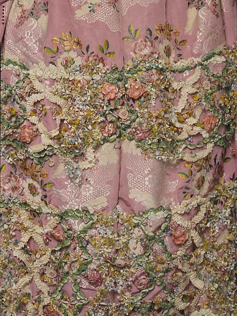 Robe à la Française (image 6) | French | 1750-75 | silk | Metropolitan Museum of Art | Accession Number: C.I.59.29.1a, b