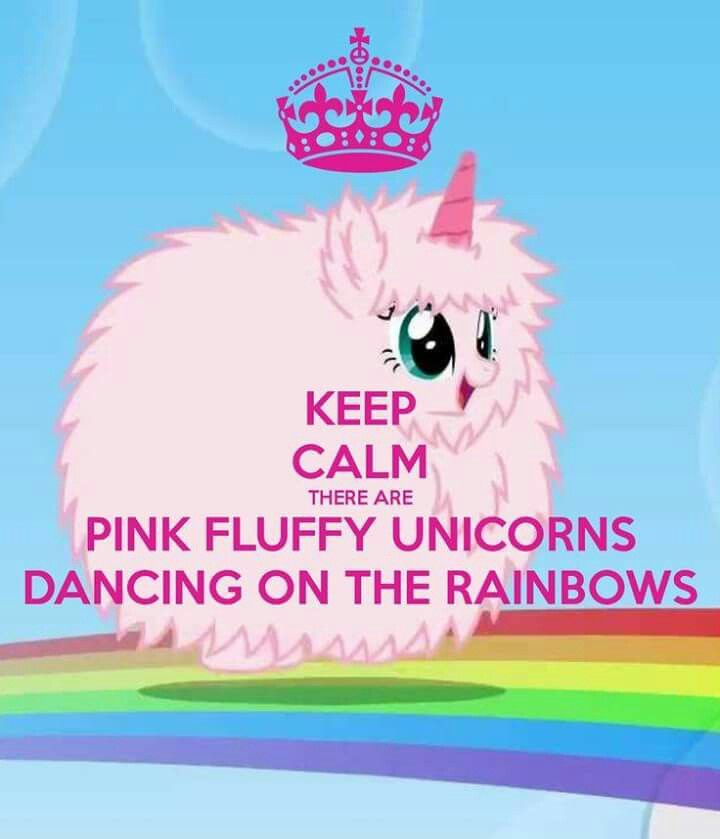 Pink Fluffy Unicorns Dancing On Rainbows Unicorns