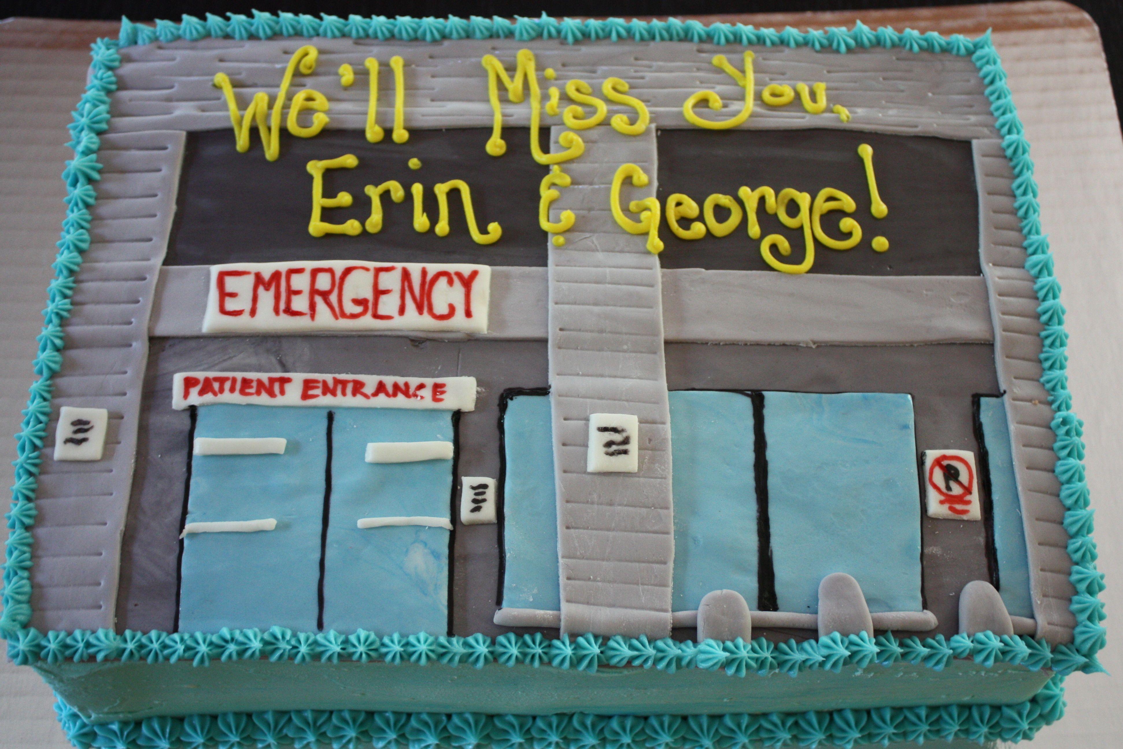An Emergency Room themed cake Emergency room, Emergency
