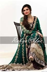 f2503238ec Pakistani bridal/dulhan dark green and golden maxi dress | Dresses ...