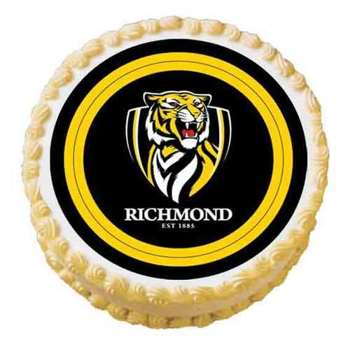 Richmond Tigers Afl Party Custom Edible Cake Photo Image Topper Decoration