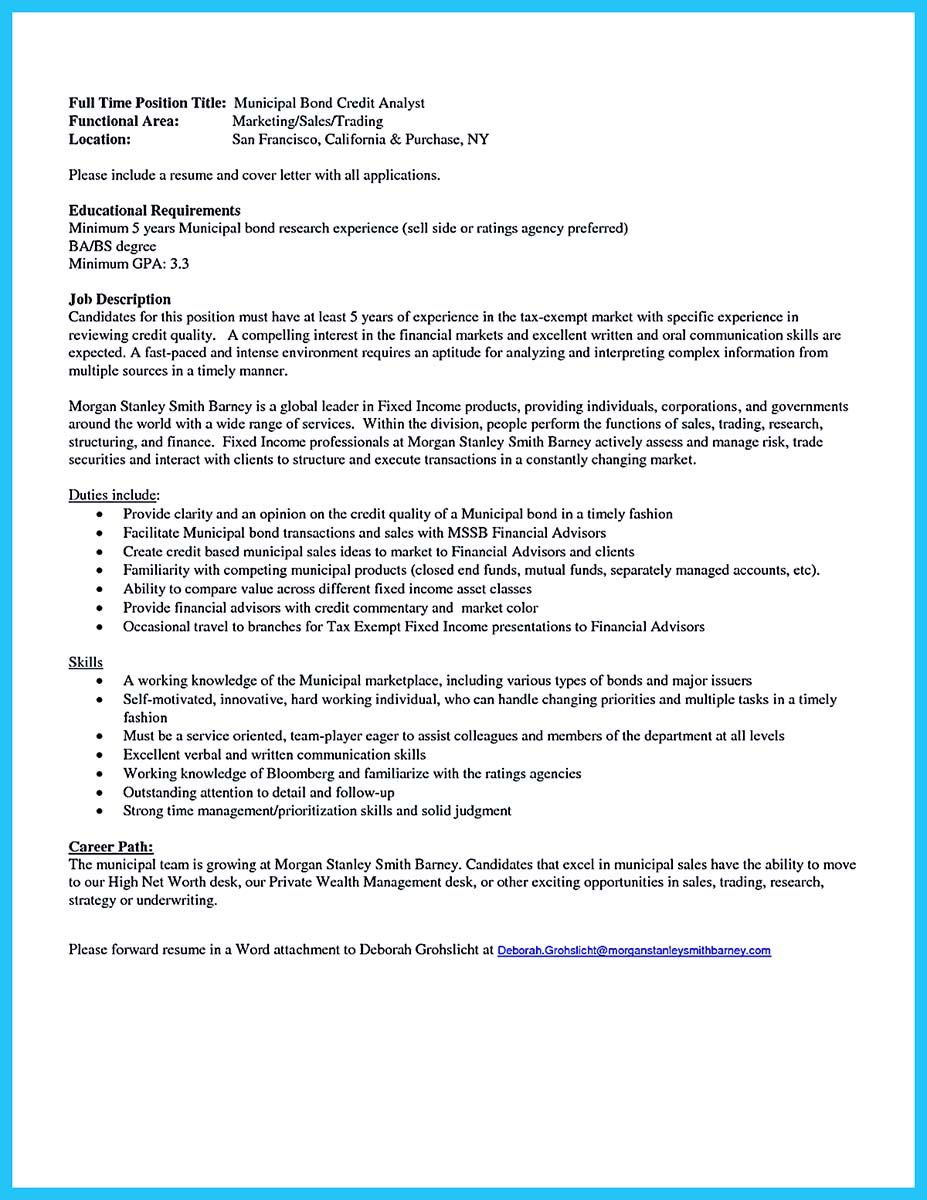 Cool Cool Credit Analyst Resume Example From Professional Check More At Http Snefci Org Cool Credit Analyst Resume Example Professional