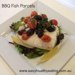BBQ Fish parcels.  Healthy dinner