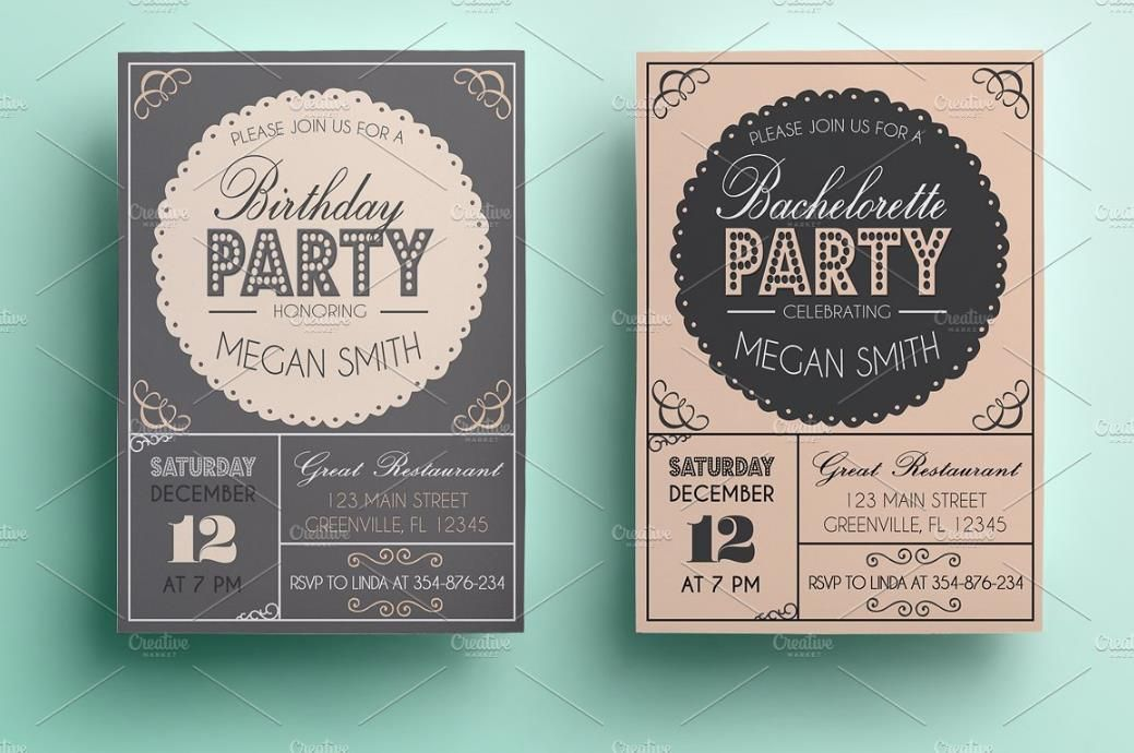25+ Premium Birthday Party Invitation Templates u2013 PSD,Indesign - birthday invitation templates word