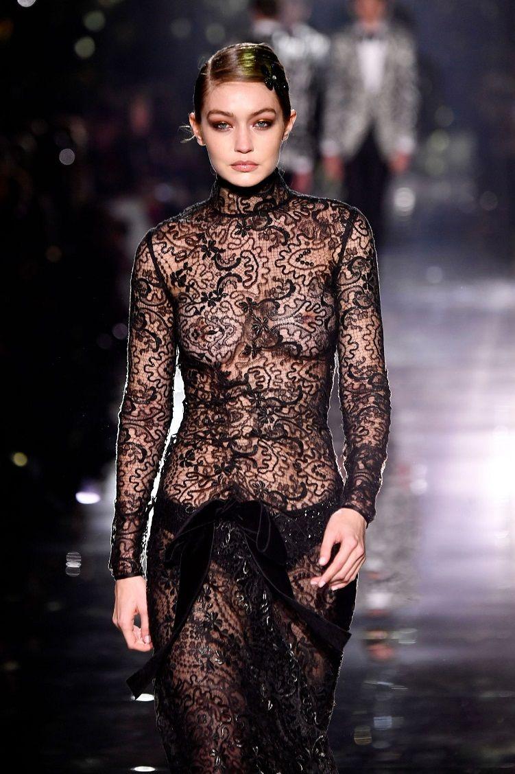 Gigi Hadid bares it all as she walks the Tom Ford Fall/Winter 2020 New York  Fashion Week Show | Fashion, Fashion show, Fashion 2020