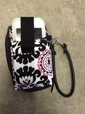 Thirty One Timeless Wristlet Wallet Pink Pop Medallion Cell Phone Go Purse Gift Ebay