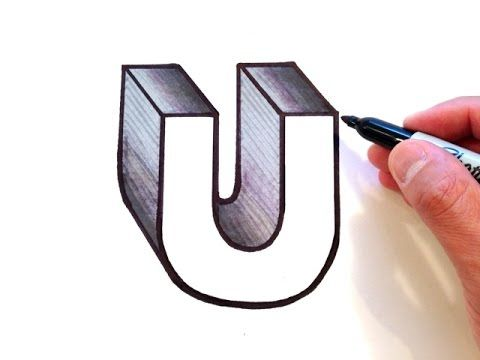 How To Draw The Letter O In 3d Youtube Drawing Letters 3d Art Drawing Lettering
