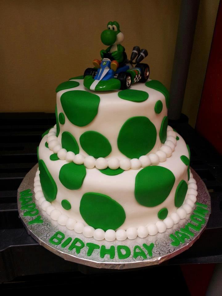 Fantastic Another Yoshi Cake Mario Birthday Cake Cake Mario Cake Funny Birthday Cards Online Necthendildamsfinfo