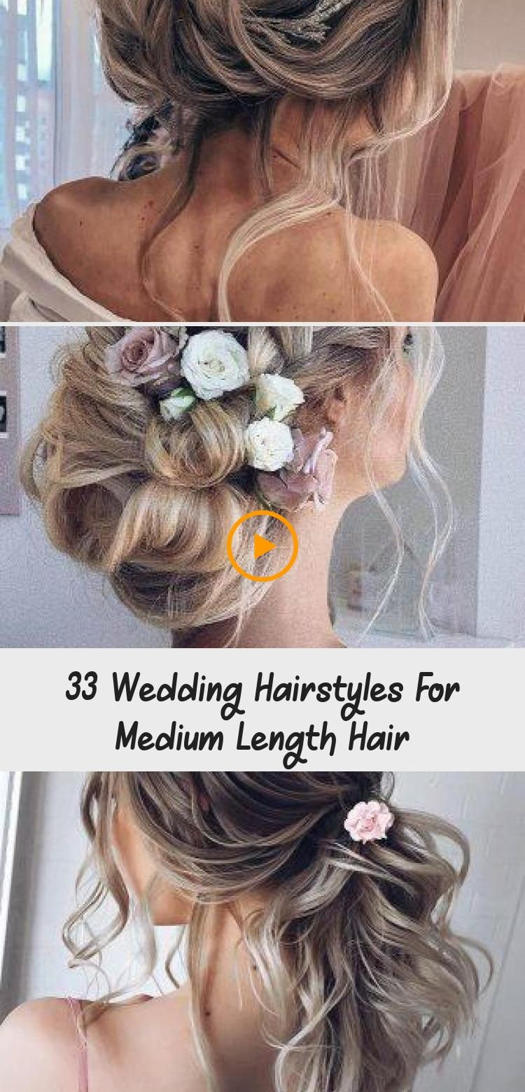 33 Bruiloftskapsels Voor Halflang Haar In 2020 Casual Wedding Hair Wedding Hairstyles For Medium Hair Hair Styles