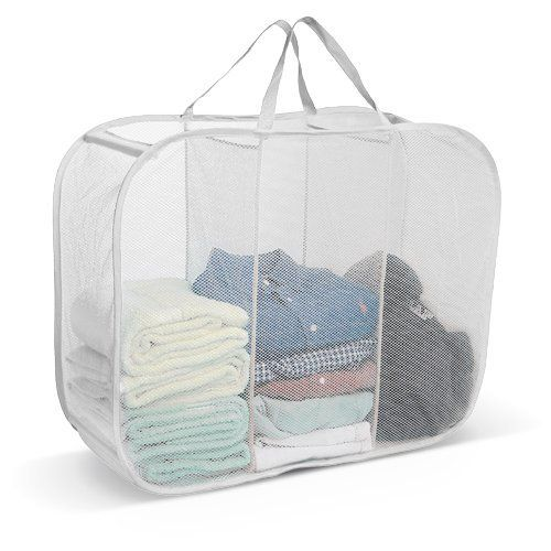 3 Compartment Laundry Sorter White By The Storage Store 8 99