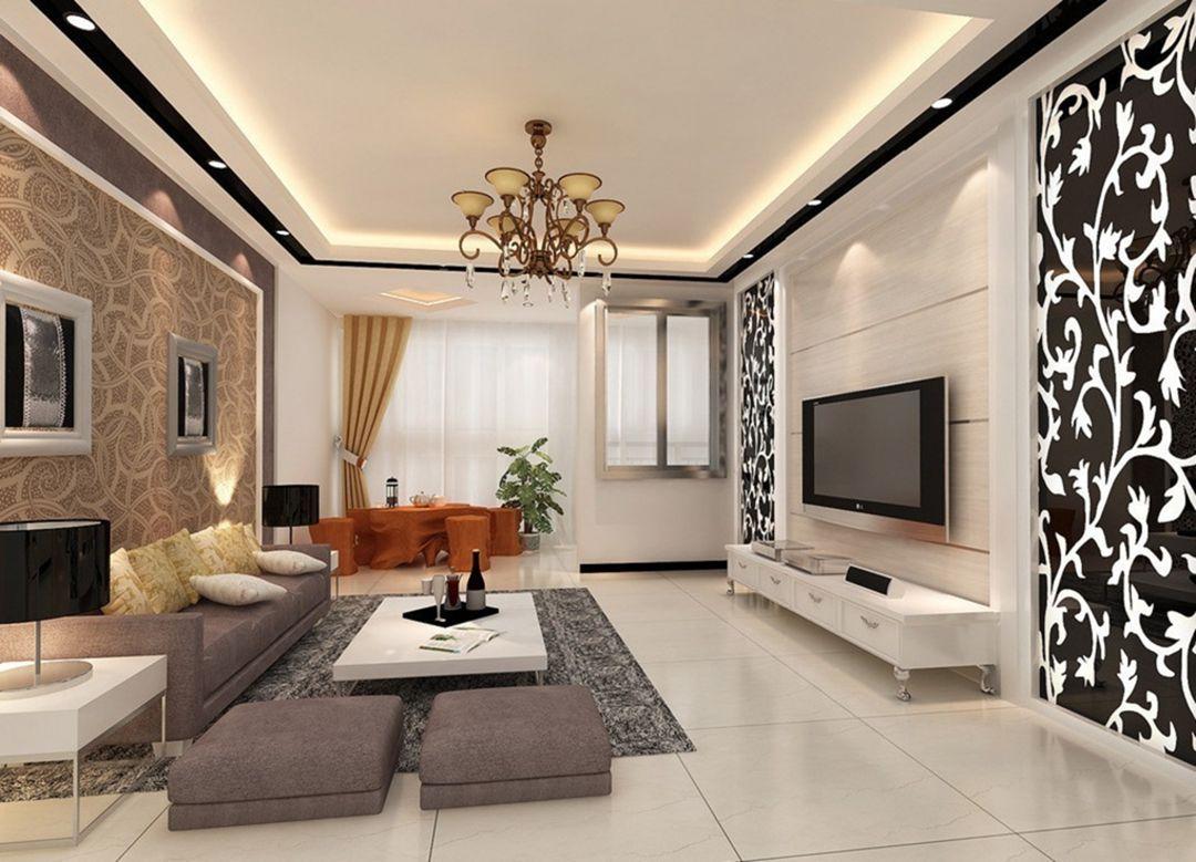 10 Interesting Living Room Wallpaper Design Ideas For Make