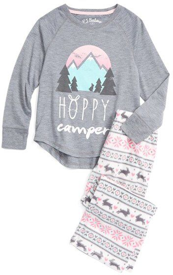 144aeaa7a Girl s Pj Salvage Hoppy Camper Two-Piece Pajamas