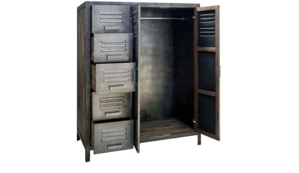 Armoire Penderie Zago Besi Metal Et Bois Recycle Armoire Metallique Armoire Penderie Armoire
