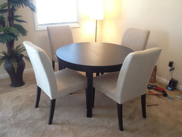 Ikea Bjursta Dining Table And 4 Henriksdal Chairs Ikea Dining