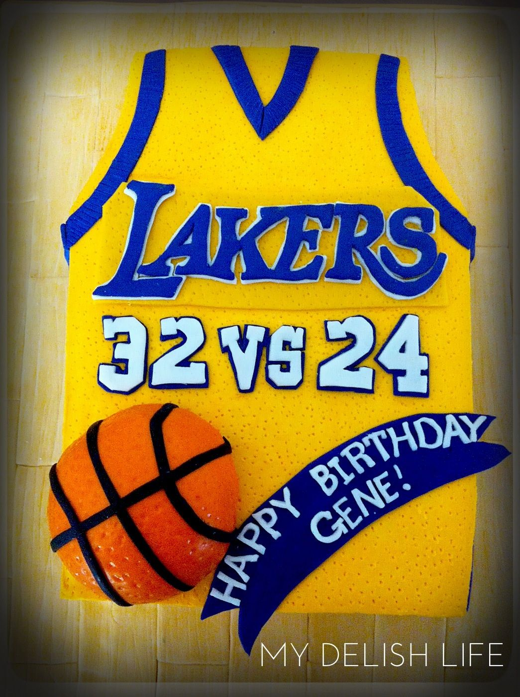 Los Angeles Lakers Cake Lakers Cake Jersey CakeTap The