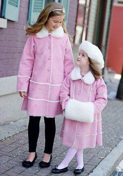 Girls Faux Fur-Lined Pink Shearling Coat Donna Salyers' Fabulous ...
