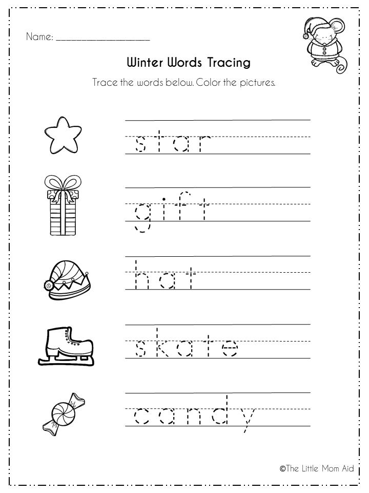 Winter Literacy Activities And Worksheets For Preschool, Kindergarten And  First Grade. … Winter Literacy Activities, Literacy Activities, Literacy  Center Activity