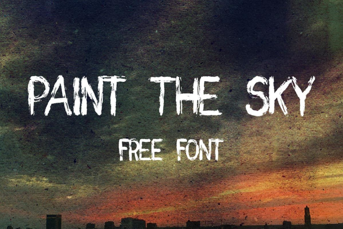 Free Paint The Sky Brush Font Brush Font Film Font Photoshop Fonts