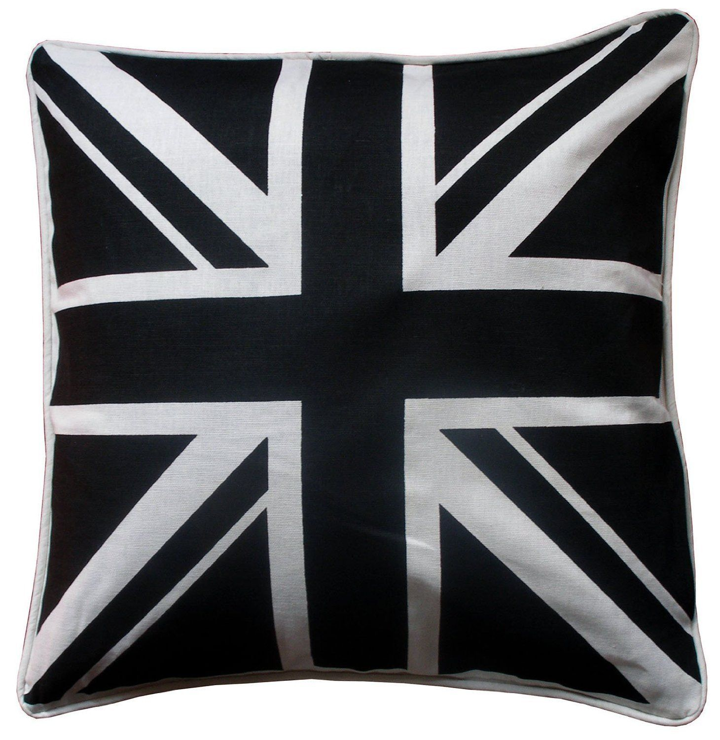 Union Jack Tapestry British United Kingdom Flag Cushion Cover Color Black And White Size 18