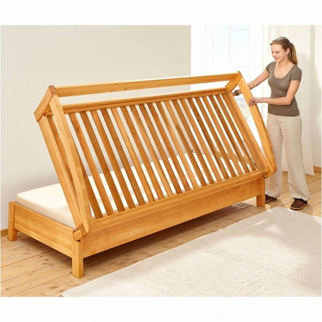 Woodworking Secret On Instagram Diy Sofa Bed Plans How To Build A Futon Sofa Bed Project If You Want To Learn In 2020 Diy Sofa Bed Sofa Bed Design Diy Sofa
