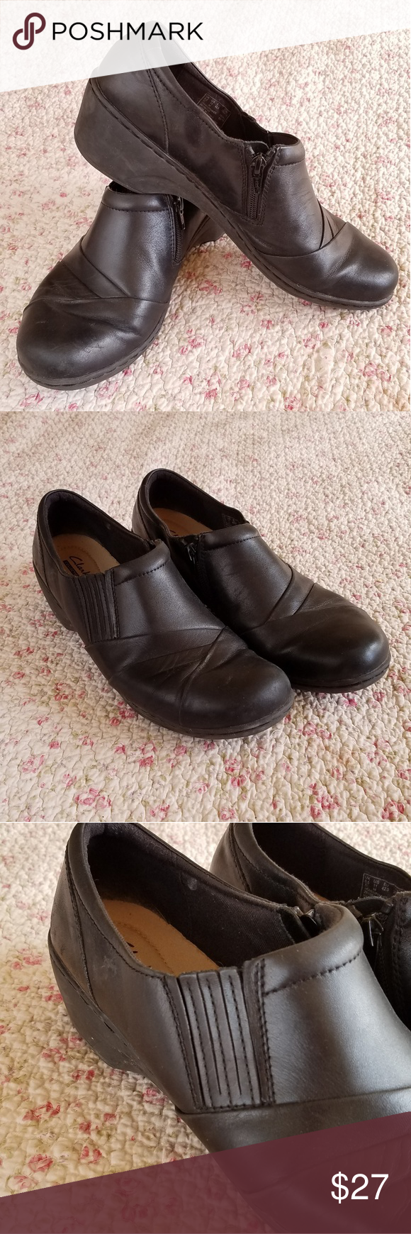 6a03dfcfcf6 Clarks Channing Essa Black Slip On Loafer Size 11 Adorable Clarks black  loafer shoes with side