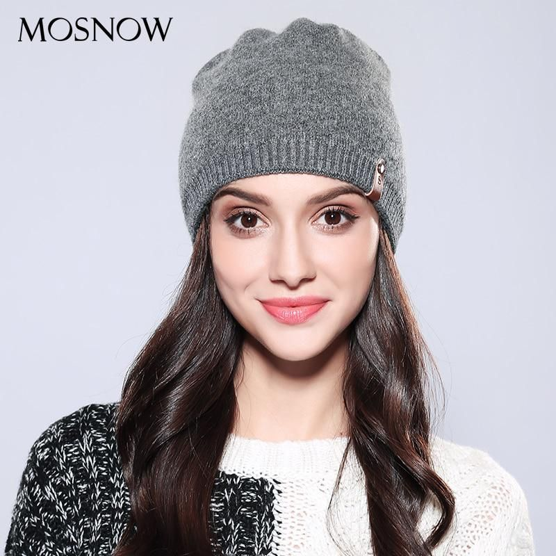f148e6aa002 MOSNOW Women Ladies Beanie Casual Wool 2018 Brand New Autumn Winter High  Quality Solid Knitted Women s Hat Female Caps  MZ748. Yesterday s price  US   18.45 ...