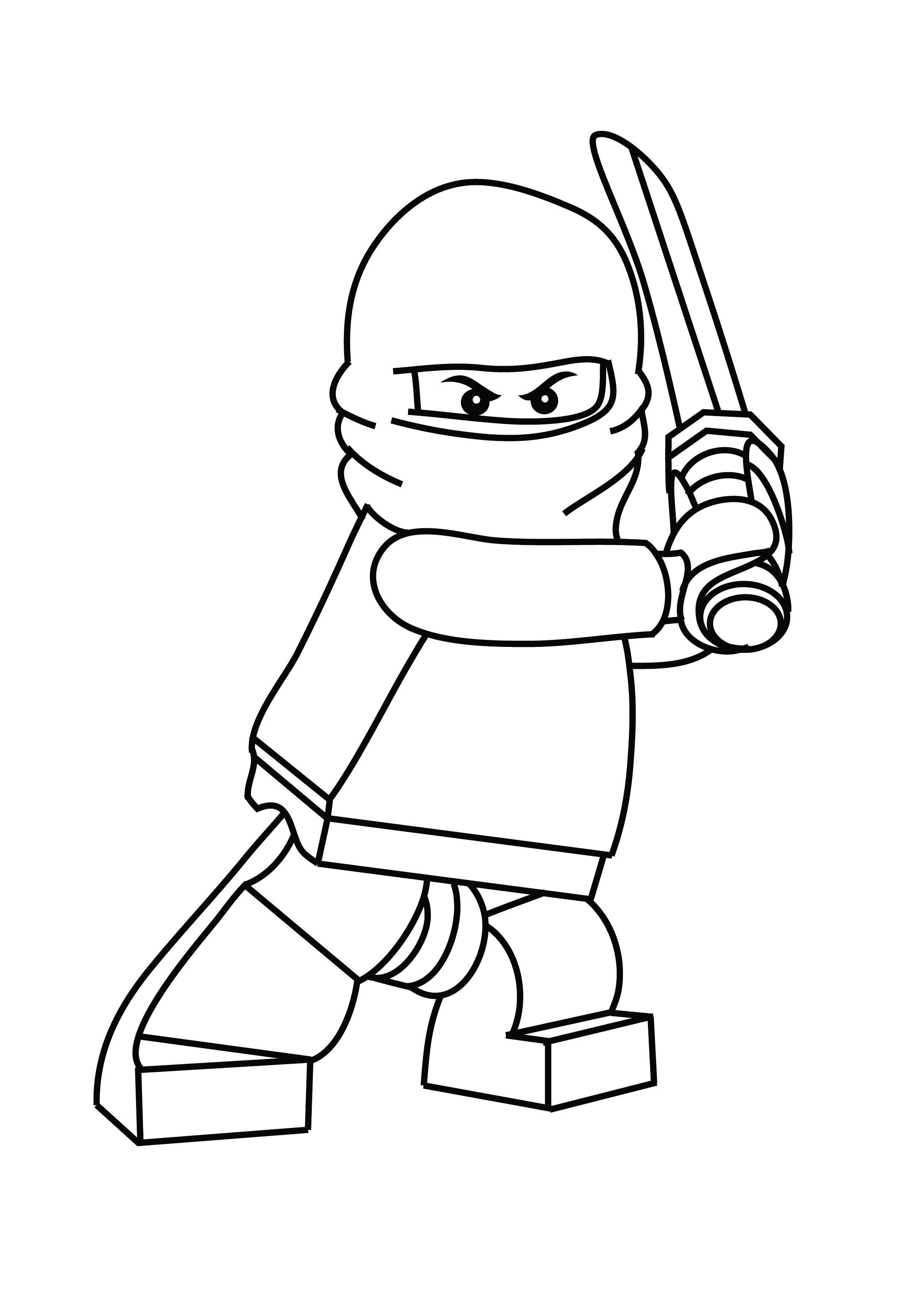 graphic relating to Printable Lego Coloring Pages called Absolutely free Printable Ninjago Coloring Webpages For Children Lukes