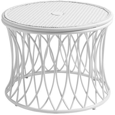 Patio Side Table With Umbrella Hole White 160 Patio Side Table Table Umbrella Table